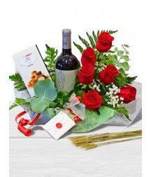 Rioja wine with Roses