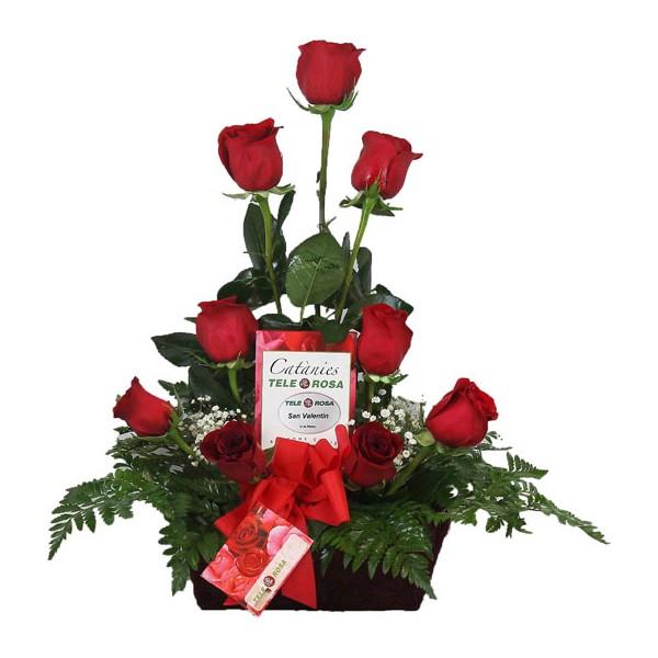 Nueve Rosas Con Bombones O Peluche Para Regalar Con Envío A Domicilio