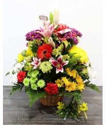 Rainbow Flower Basket
