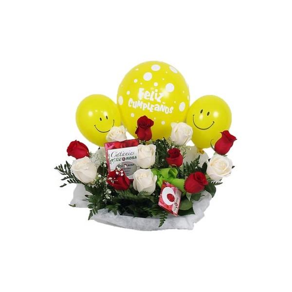 Flores Rosas Bombones Globos Y Peluches Originales Para Hombre
