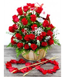 Basket of 50 Roses