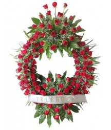 Funeral Wreath roses