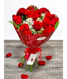12 Red Roses Valentine