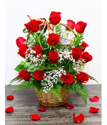 Basket of 24 Roses
