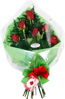 9 Bouquet of six Roses from Telerosa