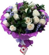 7 Fifteen Roses Bouquet from Telerosa