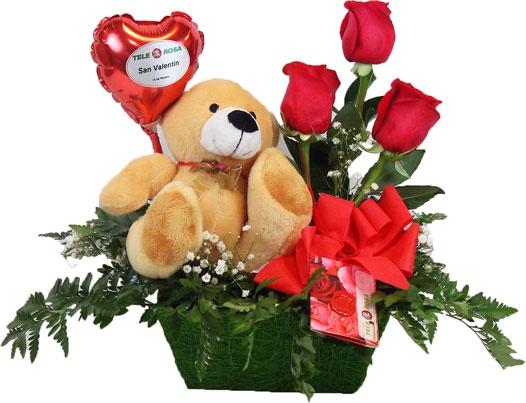 Ramos de rosas rojas con peluches grandes imagui - Ramos de flores grandes ...